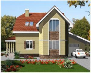 Проект дома с мансардой 1