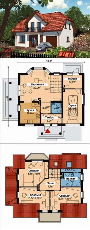 Проект дома до 120 кв м