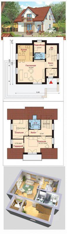 "Проект дома ""до 100 м2"""