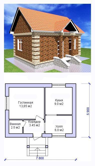 проект дома дачный