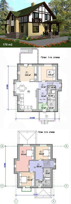 компактный проект дома изумруд, мансардный и практичный
