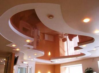 Ремонт потолков в доме.