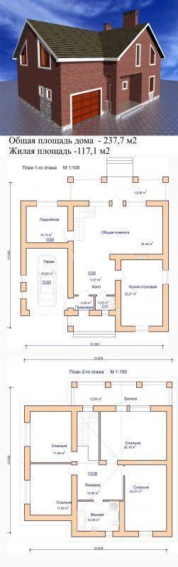 проект дома мансардная крыша