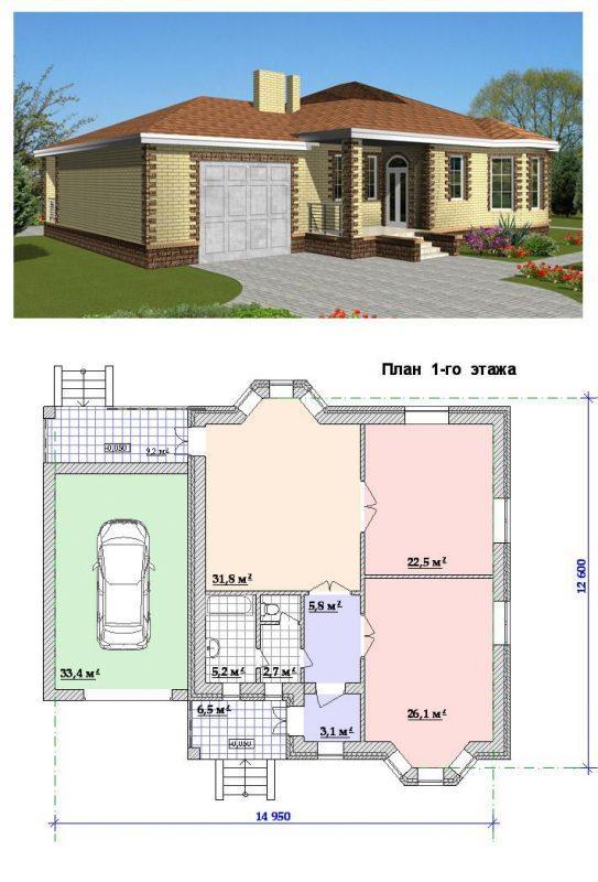 """Проект дома """"Один этаж"""""""
