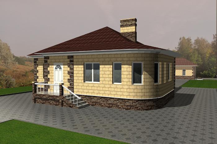проекты полукруглых одноэтажных домов