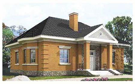 дом из кирпича фото одноэтажный