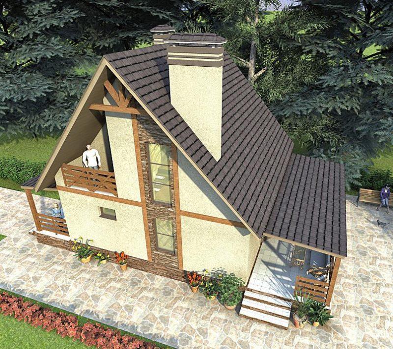 Вид сверху проект трехкомнатного дома