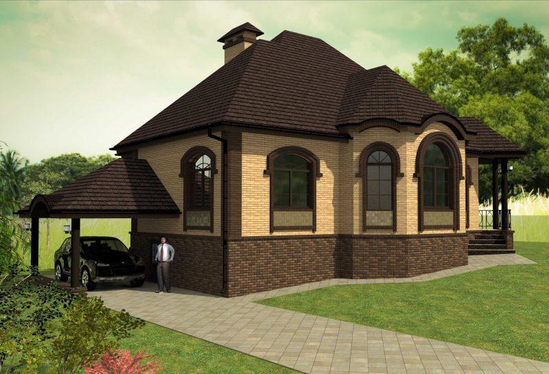 Проект красивого одноэтажный дом