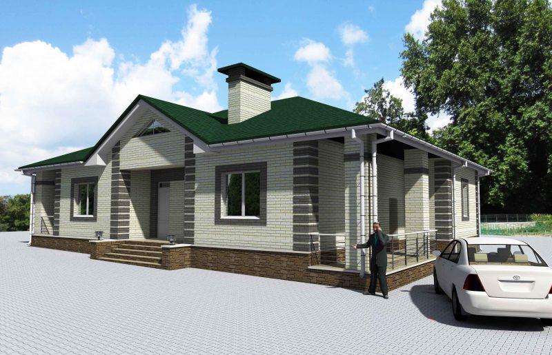 проект дома с тремя спальнями