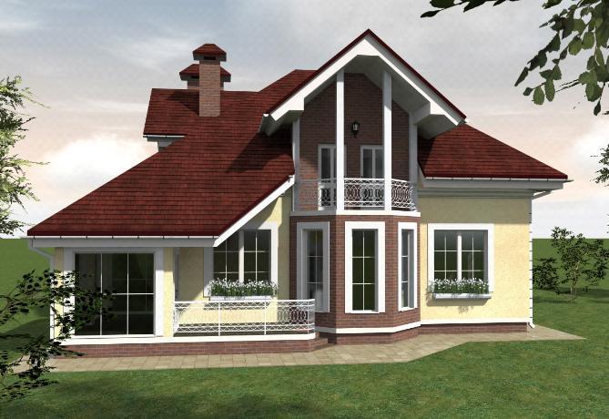 проект дома с зимним садом