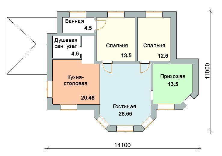 план этажа дома