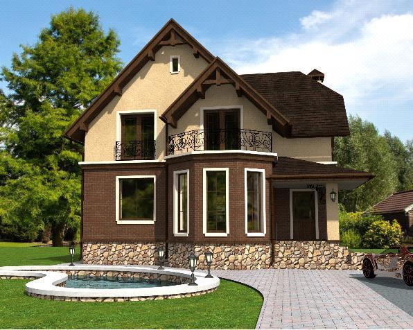 Проект дома 120 м2 с мансардой