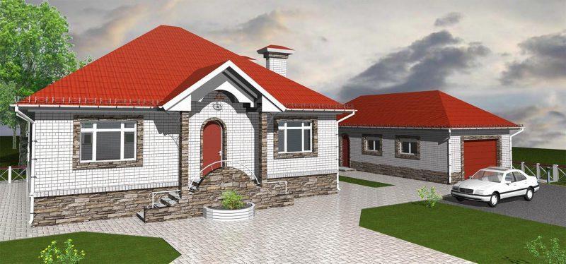 Проект одноэтажного дома до 150 м2