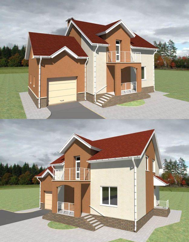 Проект частного двухэтажного дома