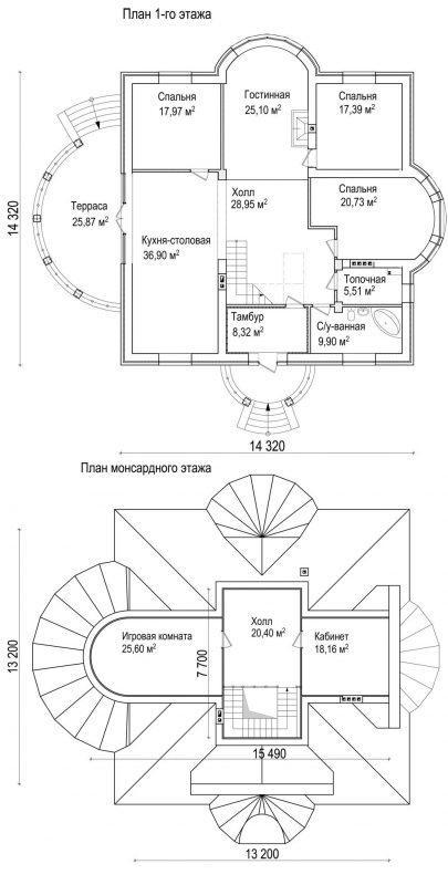 планы красивого дома