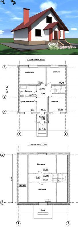 Проект простого дома 150 м2