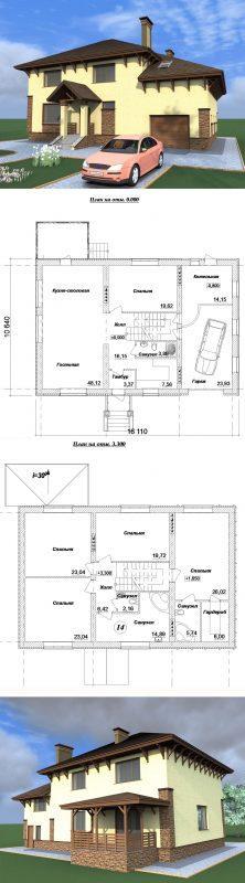 проект дома 300 м2