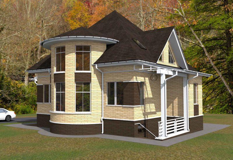 Проект дома с подвалом и мансардным этажом