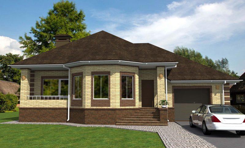 Дизайн фасадов одноэтажных домов фото