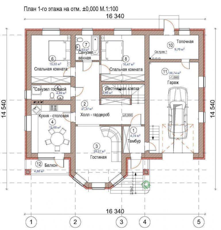 План дома с подвалом