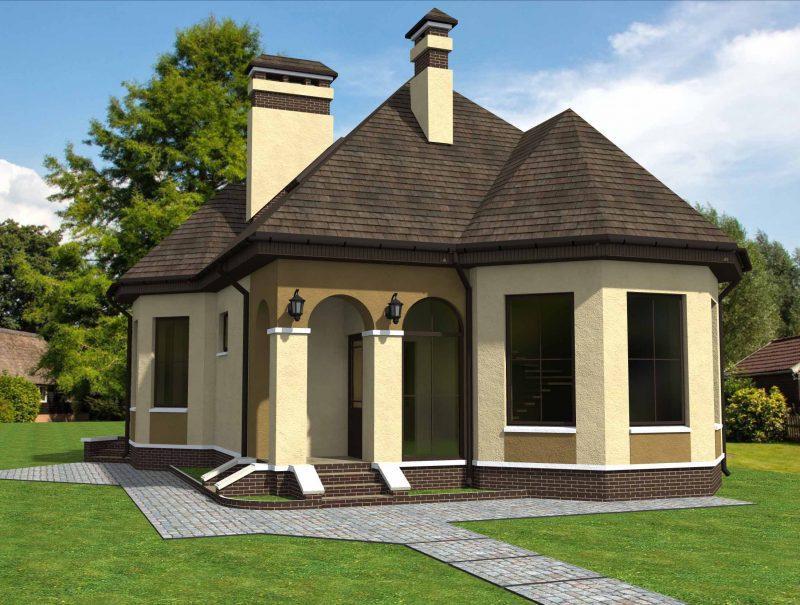 Проект дома с арками