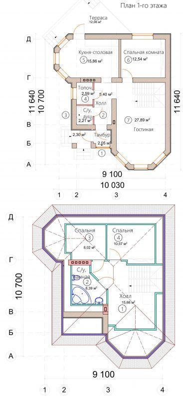 Планировка дома с арками