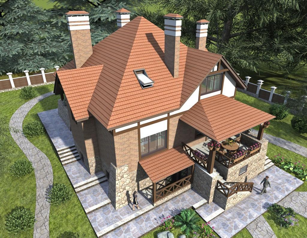 Проект дома стильный