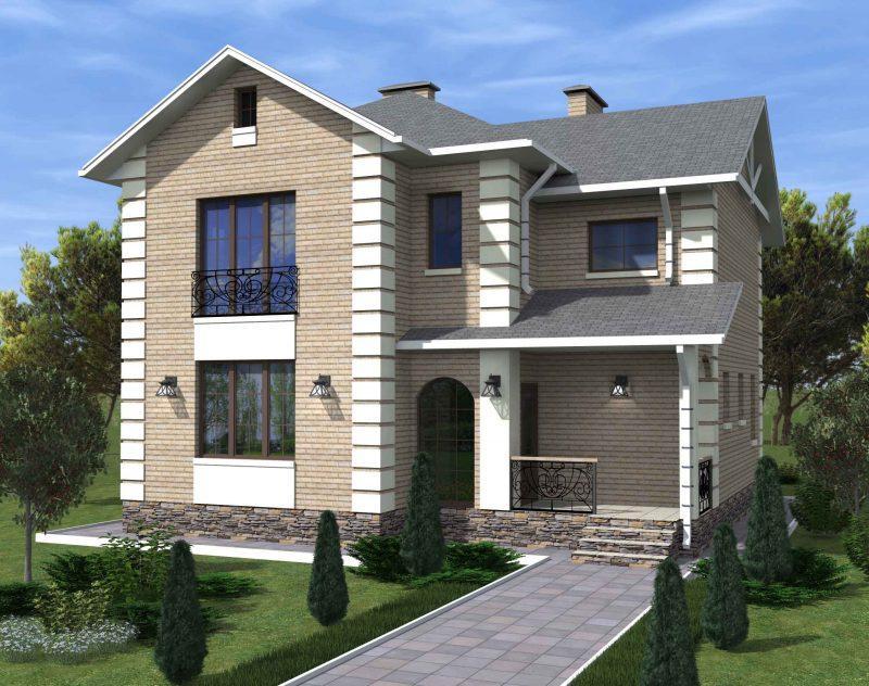 Кирпичные двухэтажные дома фото и проекты домов