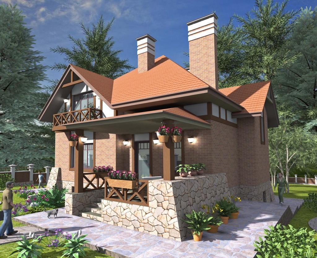 проект стильного дома внешний вид