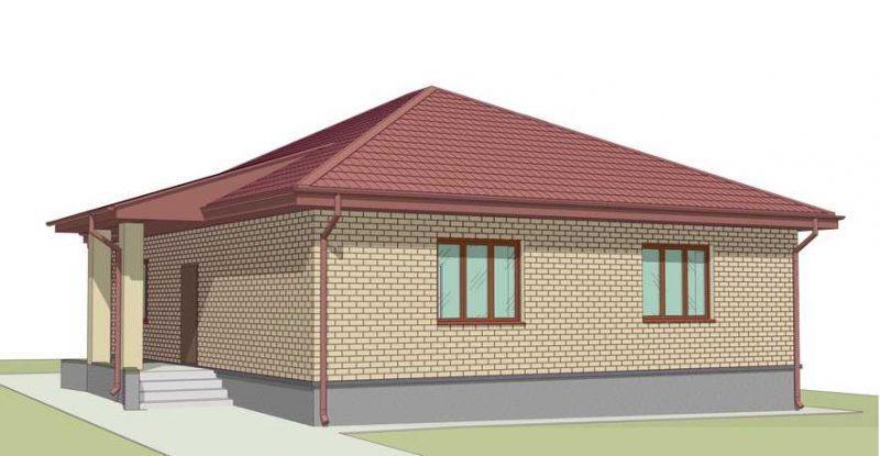 Типовой проект дома до 100 кв.м.