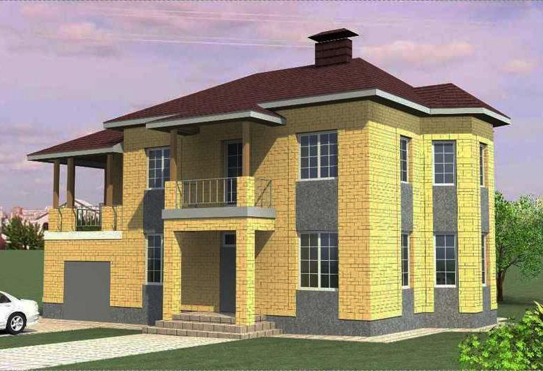 Готовый проект двухэтажного дома до 200 кв.м.