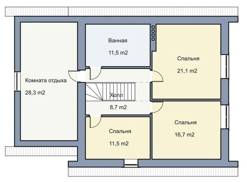 план 2 этажа 20