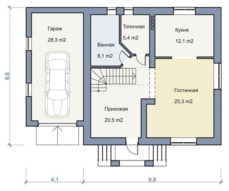 Проект дома с мансардой 200 кв.м.