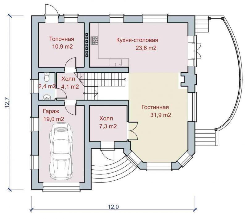 План дома с гаражом до 200 кв.м