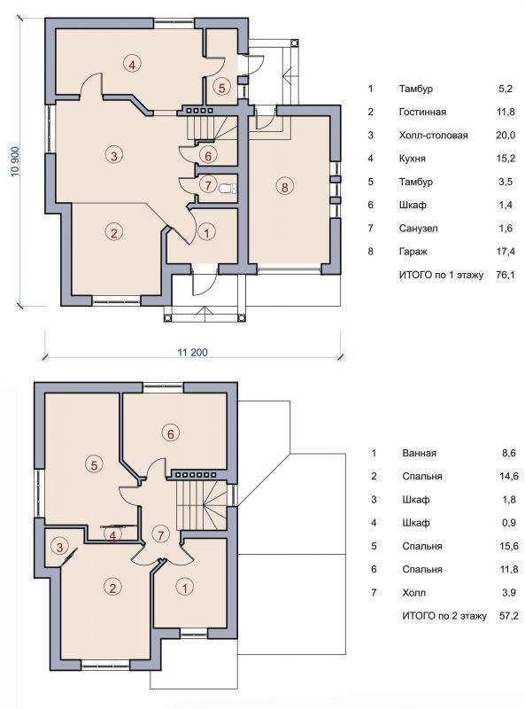 планы дома из сайдинга
