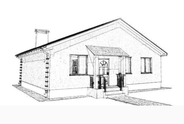 Готовый проект дома 10 на 10 с тремя спальнями.