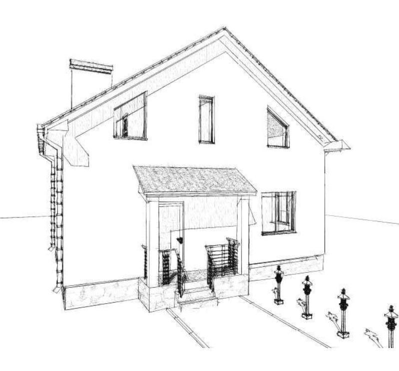 Проект двухэтажного дома 100 кв.м.