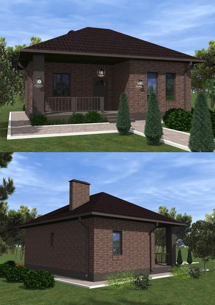 Проект небольшого гостевого дома до 50 кв.м.