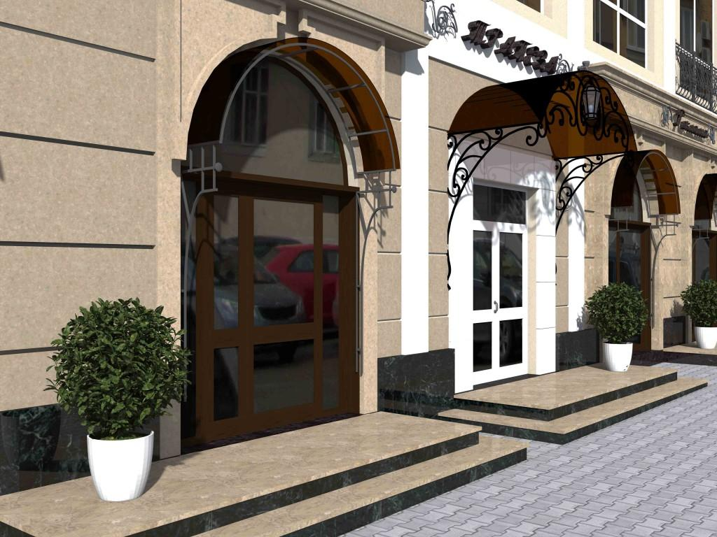 кафе-ресторан Донец фрагмент фасада