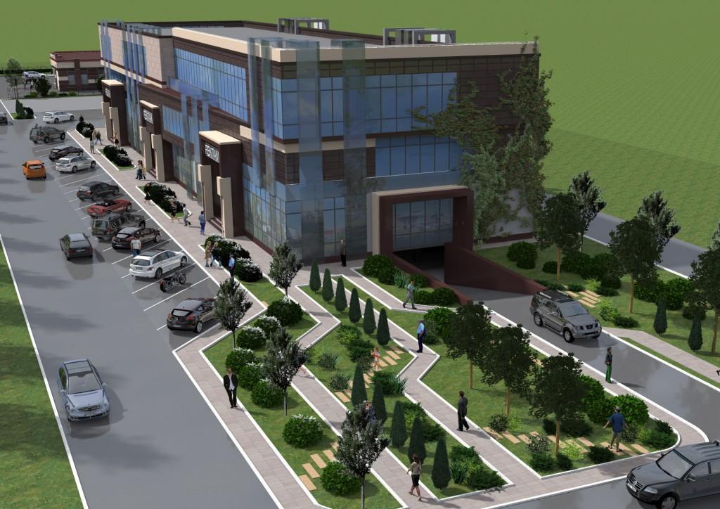 проект торгово-офисного центра, вид2