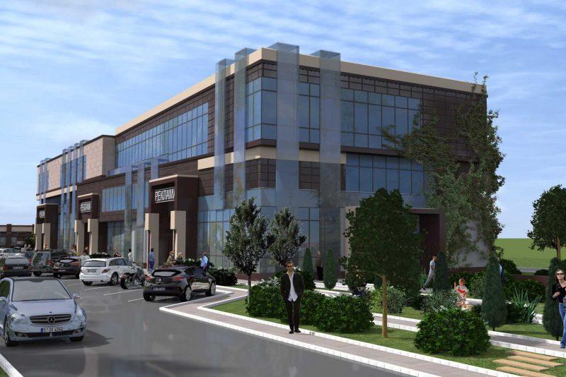 проект торгово-офисного центра