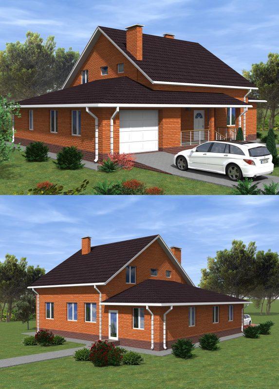 Недорогой финский дом 6х6 метров --- проект Рябина