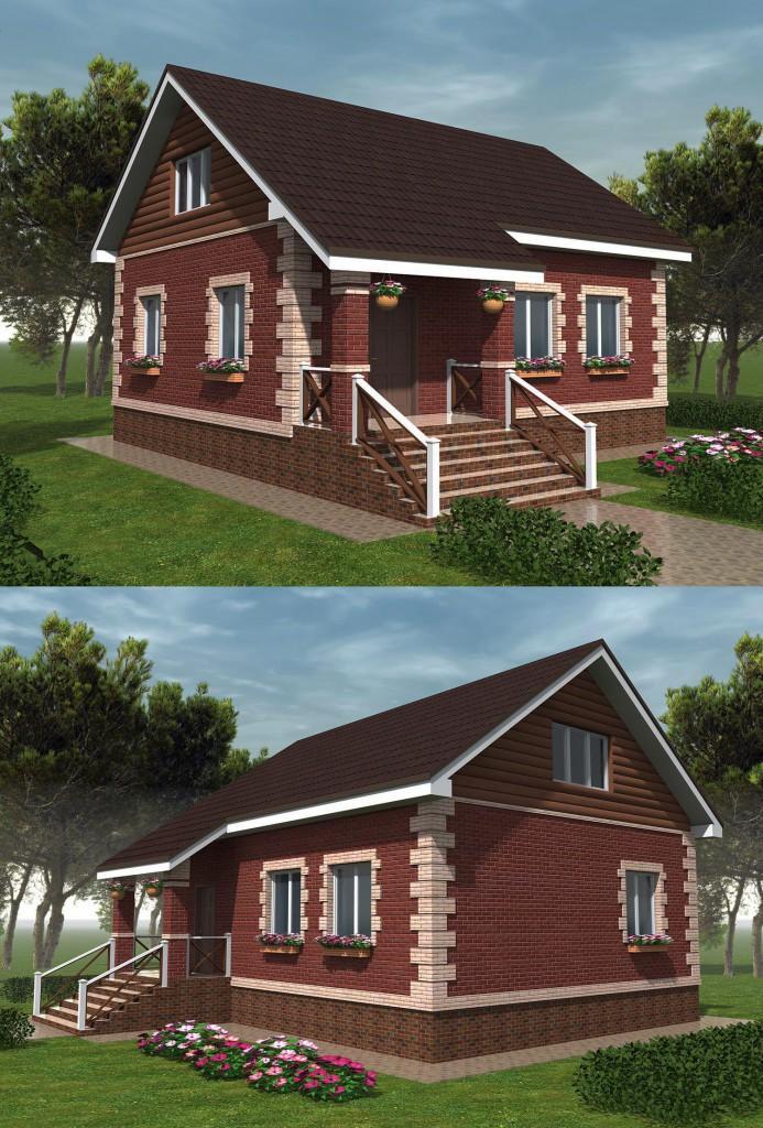 Проект маленького дома эконом класса с фото