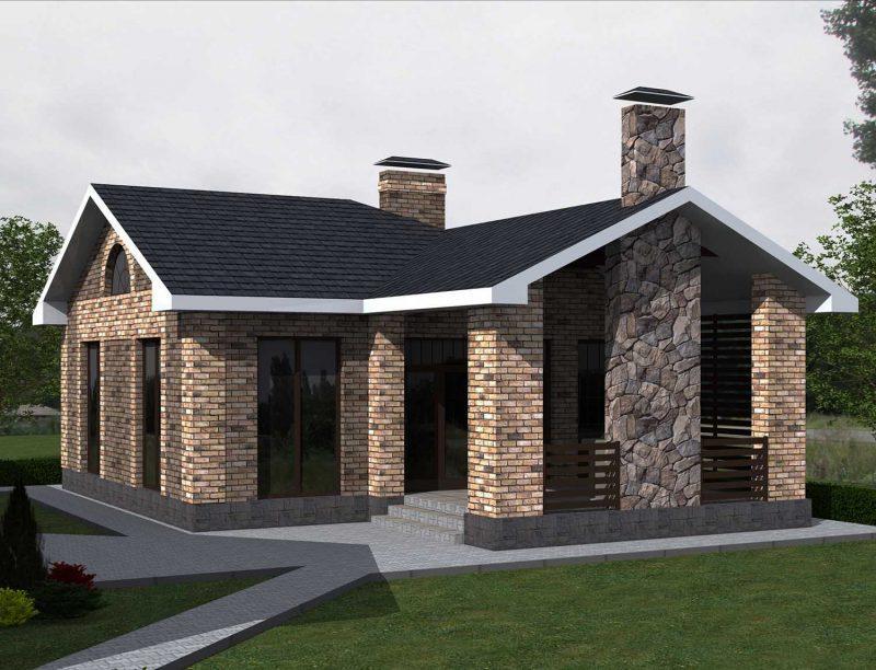 Проекты одноэтажных домов | Архитектурное бюро. Авторские ... Керамзитобетон Кровля