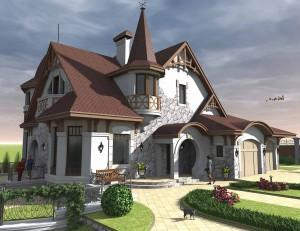 мин красивый дом