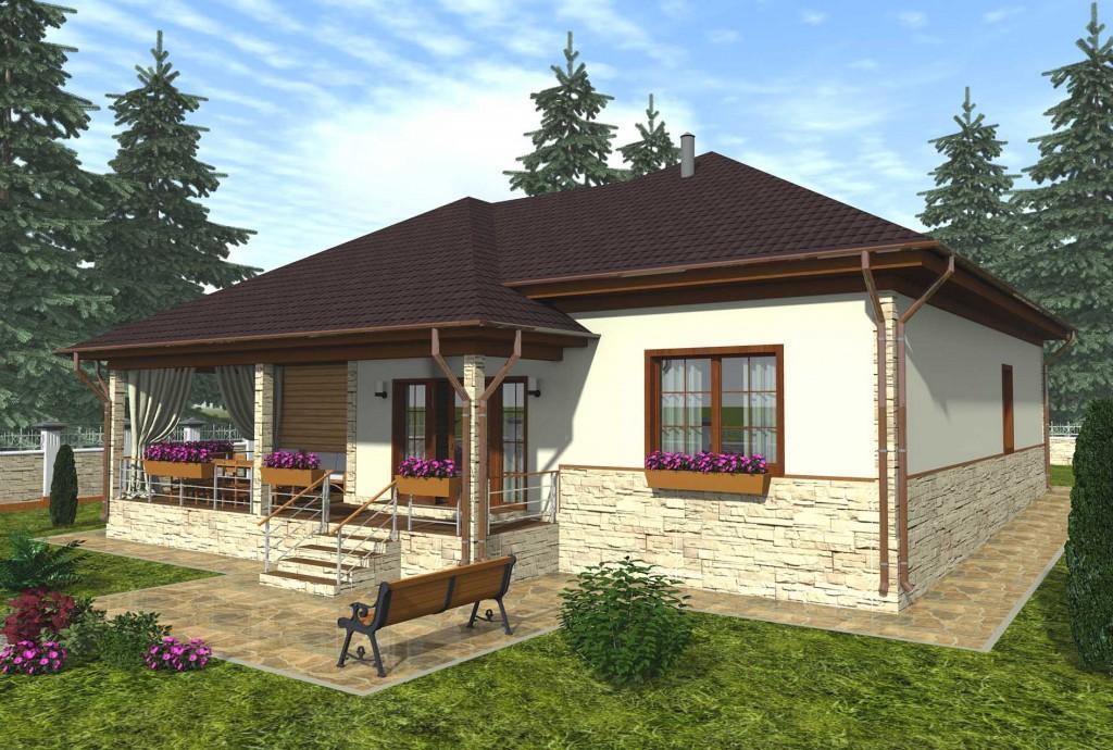 проект каркасного дома общий вид