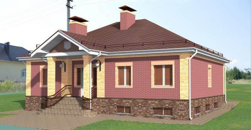 проекты домов одноэтажных кирпичных домов
