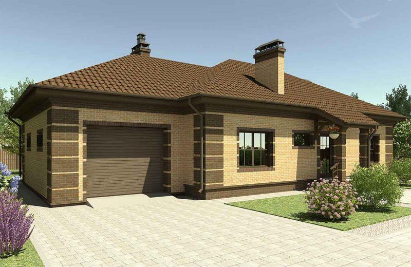 комбинированный дом строительство, интересный проект