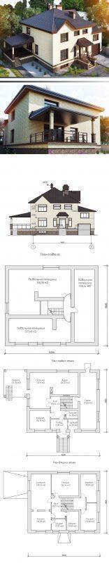проект небольшого современного дома