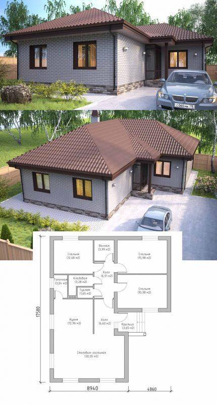 Проект маленького уютного дома